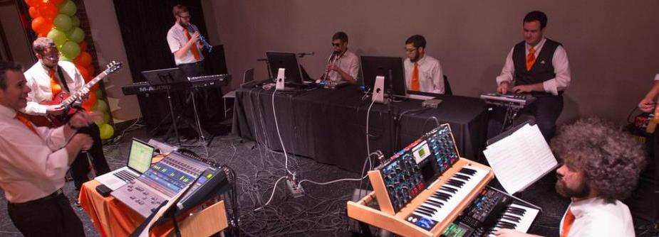 Digital Music Ensemble performs live concert.