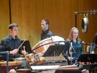 Percussion Ensemble students in concert at the Performing Arts Center.
