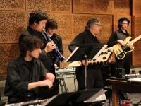 Students performing in the Digital Music Ensemble