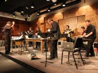 Digital Music Ensemble students performing in Ciminelli Hall.