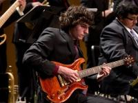 Guitar student performing with Jazz Ensemble