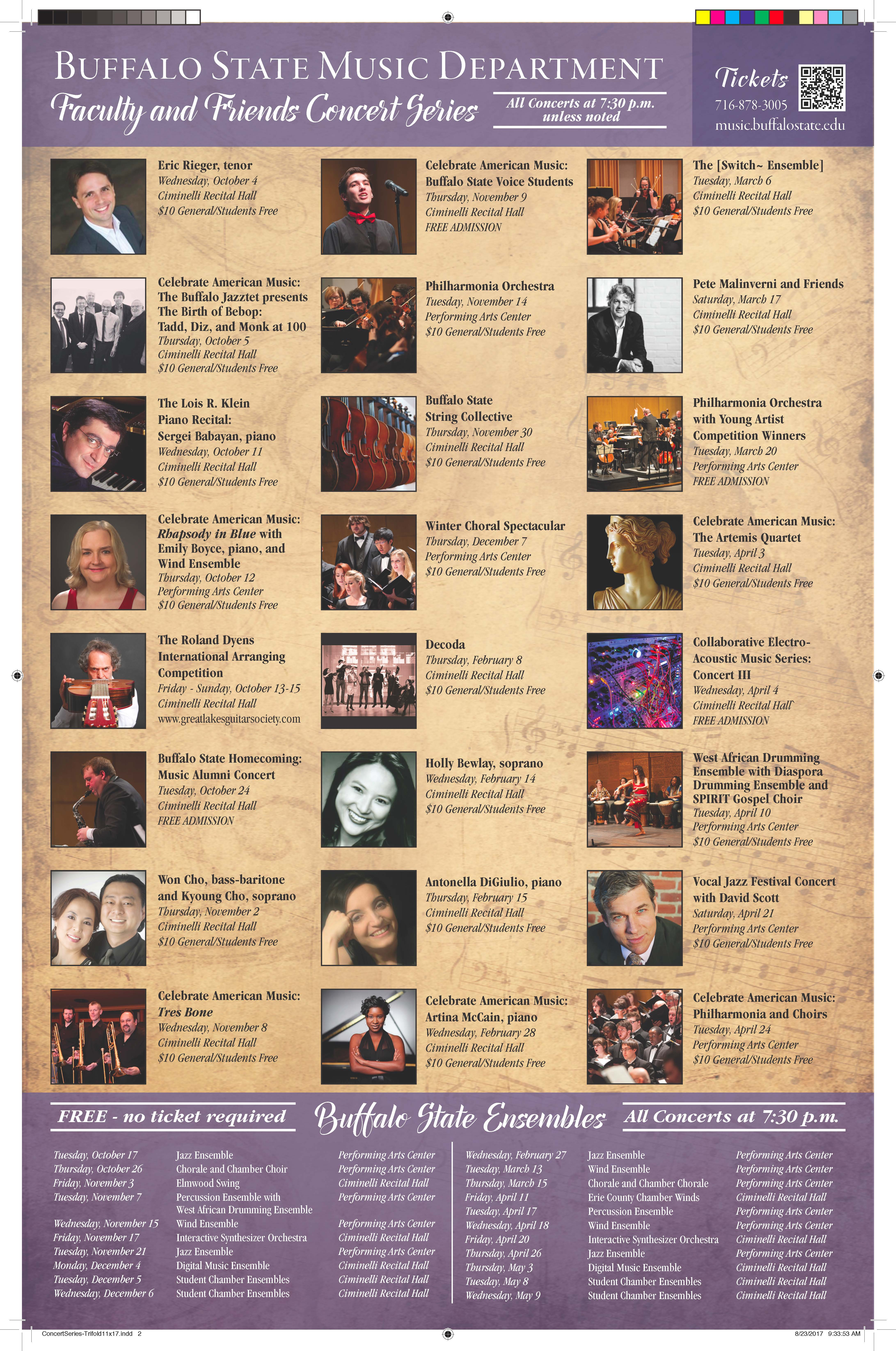 Faculty and Friends Series Concert Brochure